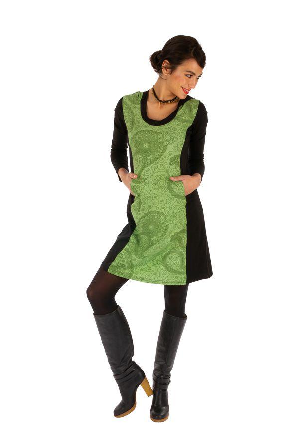 Robe courte originale d'hiver colorée et à capuche Manathan 312629