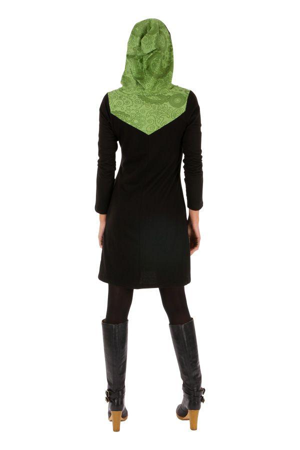 Robe courte originale d'hiver colorée et à capuche Manathan 312630