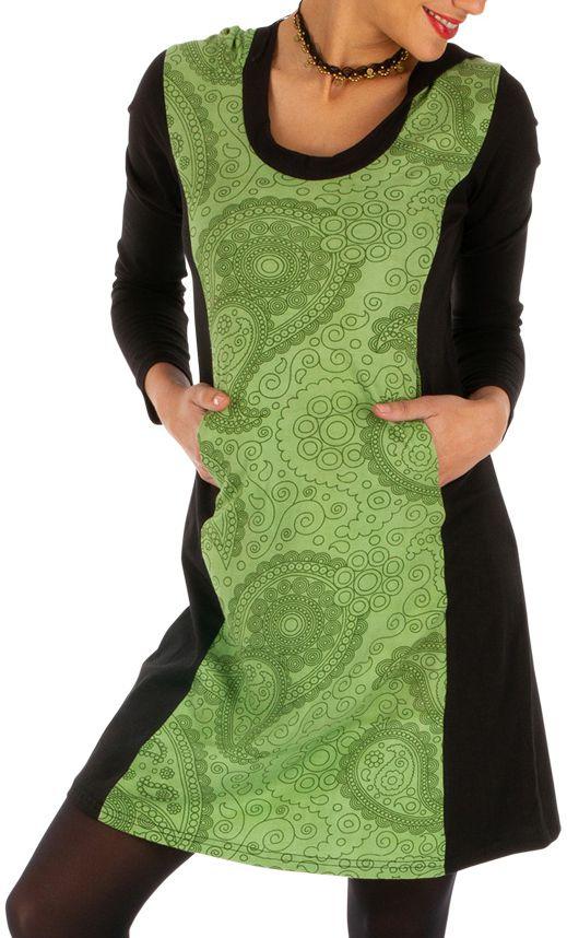 Robe courte originale d'hiver colorée et à capuche Manathan 312631