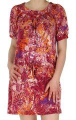 Robe courte Originale et Colorée pour l'été Christina Fushia 283062
