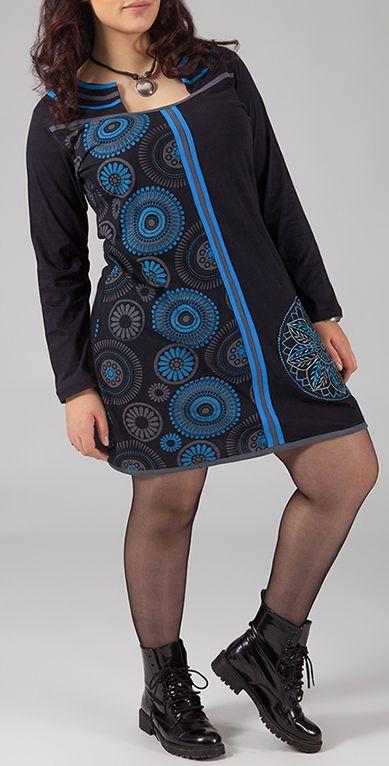 Robe courte originale grande taille pour l'hiver Juliette 274449
