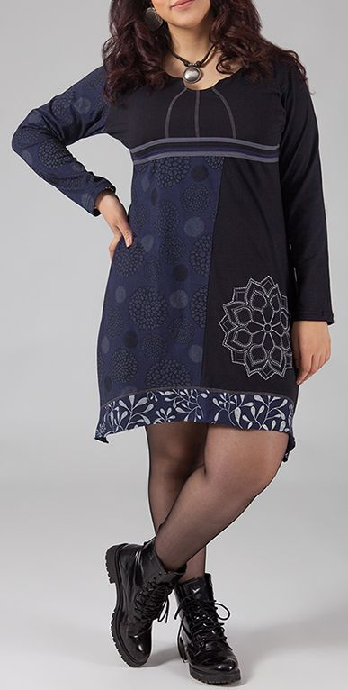 Robe courte originale grande taille pour l'hiver Léa 274450