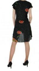 Robe courte originale noir casual chic 255721