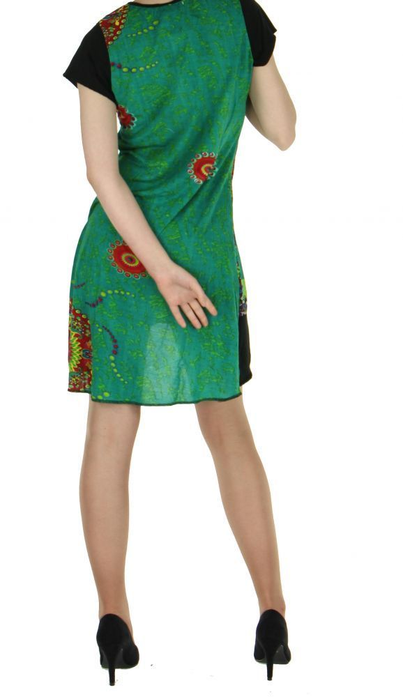 Robe courte originale verte casual chic 255720