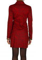 Robe courte paisleys et col style cache-coeur drapé Patty 301035