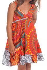 Robe courte pour Enfant Orange à Volant Asymétrique Oliver 280431