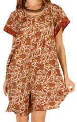 Robe courte pour femme ample et originale Sukuta à paisleys 314536