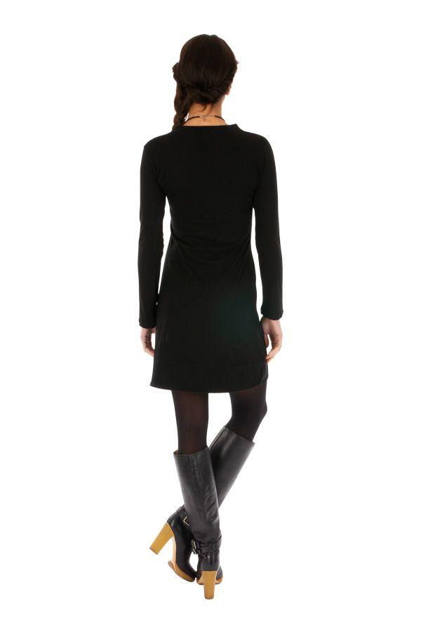 Robe courte pour femme brodée et à col en V Blida 313451