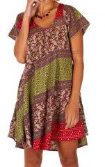 Robe courte pour femme imprimée et colorée Soma rose 314554
