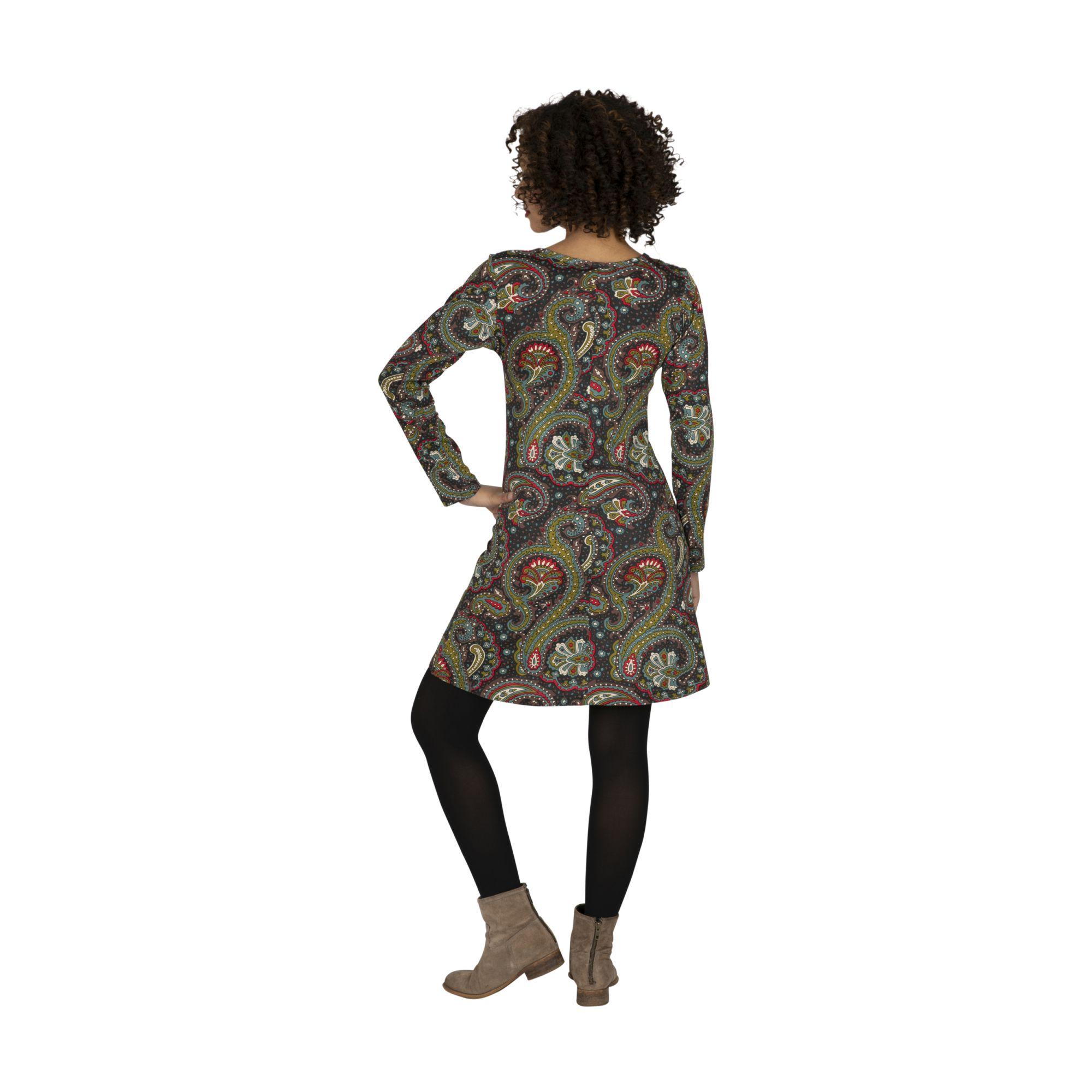 Robe courte pour femme originale avec imprimé bohème Lalouenne