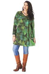 Robe courte pour femme pulpeuse Colorée Boréal Verte 286166