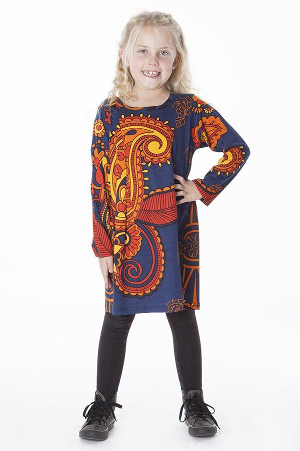 Robe courte pour fille Bleue Brenda Originale et Colorée 286445