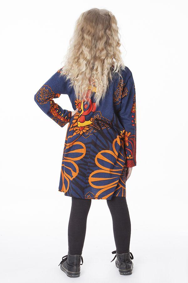 Robe courte pour fille Bleue Brenda Originale et Colorée 286446