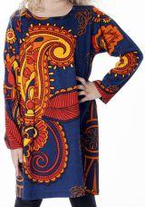 Robe courte pour fille Bleue Brenda Originale et Colorée 286934