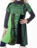 Robe courte pour fille imprimée avec un col élastiqué 287163