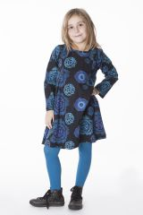 Robe courte pour fille Originale et Colorée Brenda Noire 286440