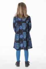 Robe courte pour fille Originale et Colorée Brenda Noire 286441