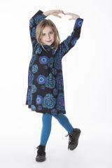 Robe courte pour fille Originale et Colorée Brenda Noire 286442