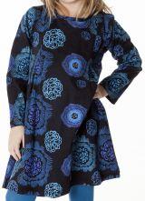 Robe courte pour fille Originale et Colorée Brenda Noire 286957