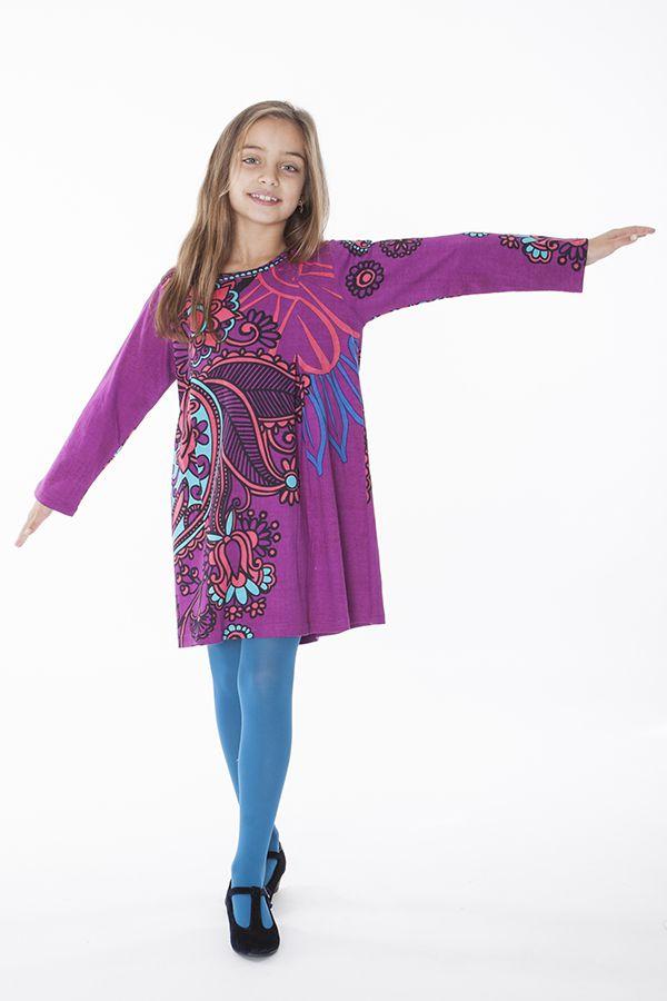 Robe courte pour fille Originale et Colorée Brenda Rose 286449