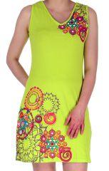 Robe courte pour l'été Agréable et Colorée Hortense Anis 282972