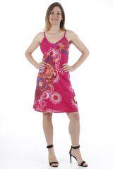 Robe courte pour l'été colorée et ethnique Gabrielle 311325