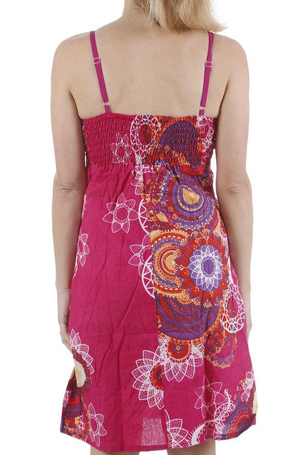 Robe courte pour l'été colorée et ethnique Gabrielle 311326