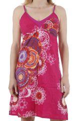Robe courte pour l'été colorée et ethnique Gabrielle 311327