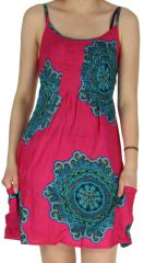 Robe courte Rose Estivale et Pas chère à fines bretelles Claire 282557