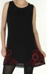 Robe courte sans manches en Voile Ethnique et Chic Mylène Rouge 278667