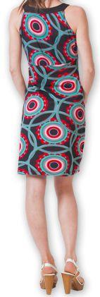 Robe courte sans manches Originale et Chic Calisa Noire 276852