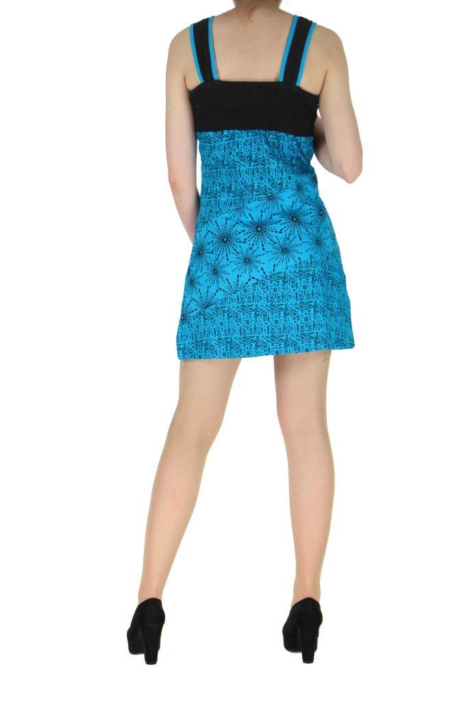 Robe courte sans manches originale sophie bleue 261332