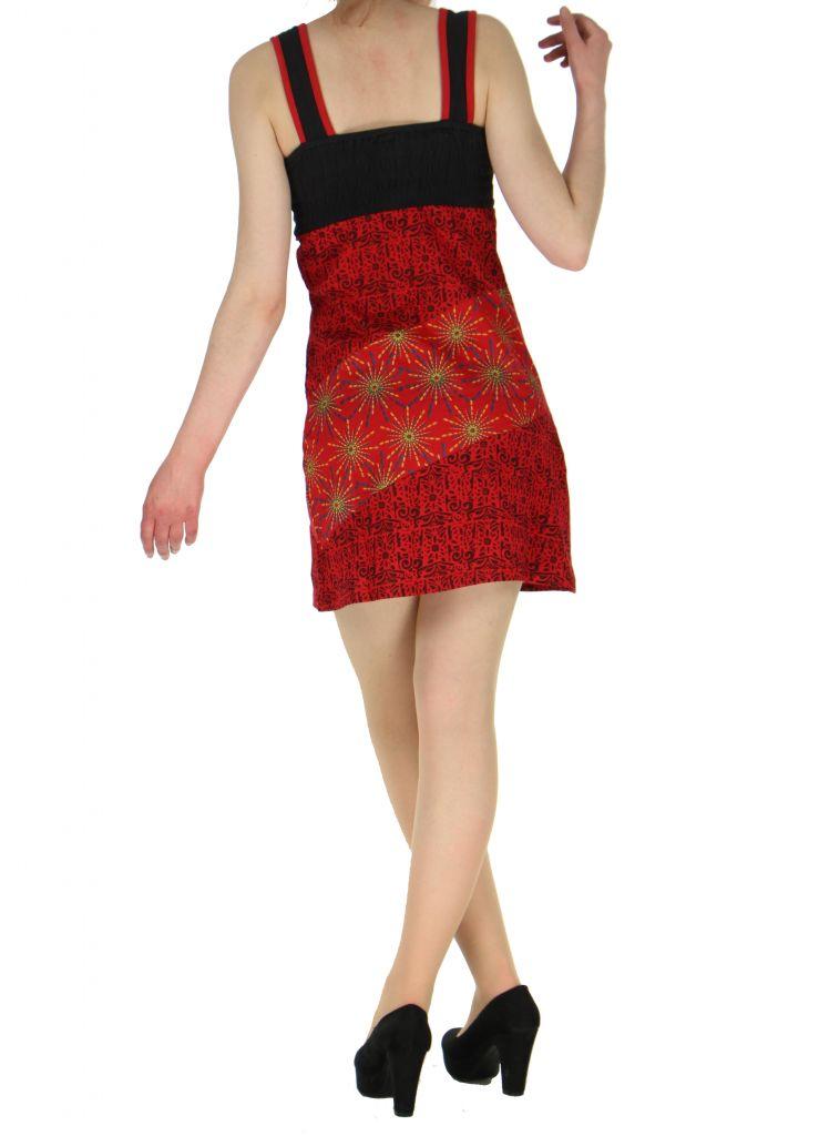Robe courte sans manches originale sophie rouge 261334