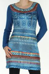 Robe courte Style Jean Ethnique et Colorée Tyméa Denim 276416