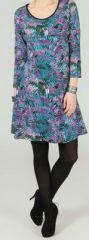 Robe courte style patineuse Imprimée et Originale Allya 274227