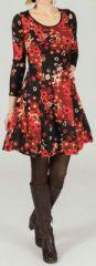 Robe courte style patineuse Imprimée et Originale Alwena 274229