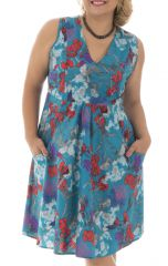 Robe courte style romantique avec son imprimé floral Jersey 291949
