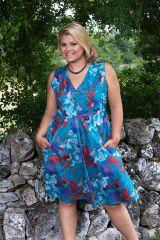 Robe courte style romantique avec son imprimé floral Jersey 291950