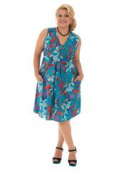Robe courte style romantique avec son imprimé floral Jersey 291951