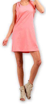 Robe courte très agréable d'été pour la Plage et Colorée Mellinda Corail 277149