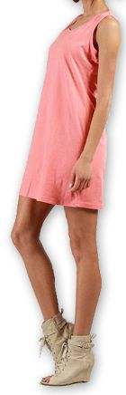 Robe courte très agréable d'été pour la Plage et Colorée Mellinda Corail 277150