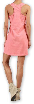 Robe courte très agréable d'été pour la Plage et Colorée Mellinda Corail 277151