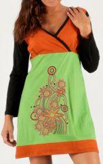 Robe courte très féminine Colorée et Fantaisie Nanouk 277903