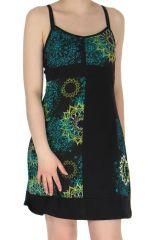 Robe courte très Féminine et Colorée Soleila Noire 283976