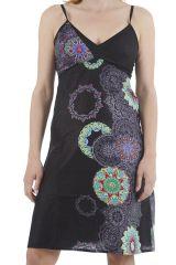 Robe courte très féminine imprimée ethnique Louane 311330