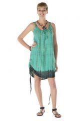 Robe courte turquoise légère à fines bretelles Lindsy 288175
