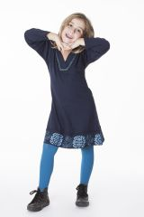 Robe courte unie pour fille avec des manches longues 286345