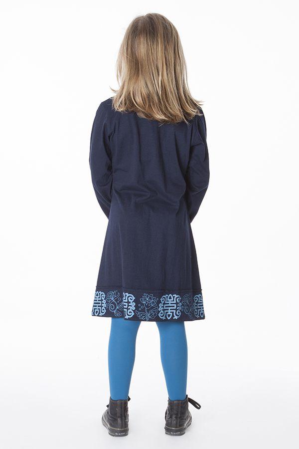 Robe courte unie pour fille avec des manches longues 286346