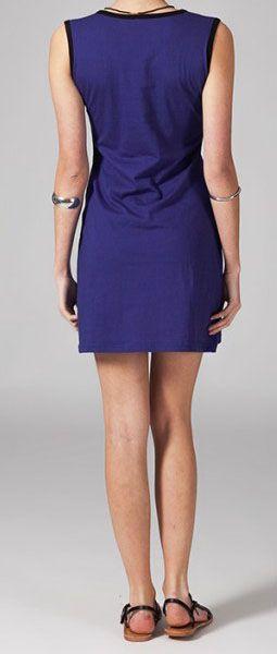 Robe courte violette en coton Vahina 269005