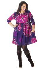 Robe courte Violette Grande taille Originale et Fantaisie Grenade 286219